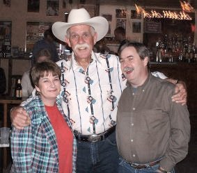 Pattie and Raymond, with Steven Fromholz (center)