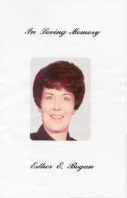 In Loving Memory - Esther E. Bogan