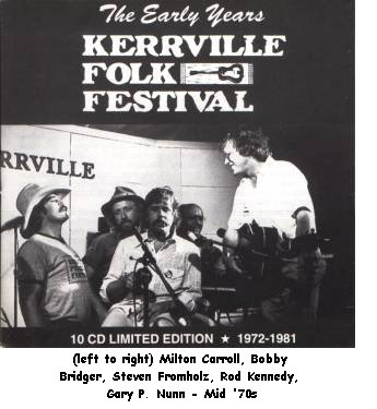 The Early Years: Kerrville Folk Festival 1972-1981, album cover